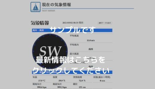 江ノ島ヨットハーバー 風速(気象)情報